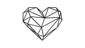 Wall art steel Heart