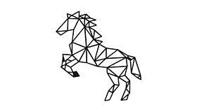 Wall art steel Horse