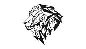 Wall art steel Lion 2.0