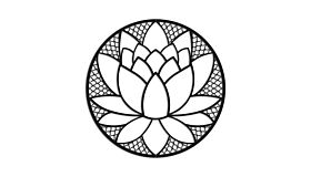 Wall art steel Lotus Flower