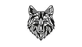 Wall art steel Wolf 1.0